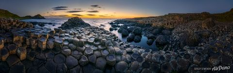 Panorama of Giant's Causeway