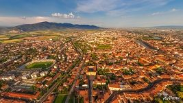 Bird's eye view of Pisa