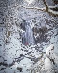 Waterfall in winter