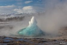 Strokkur Geyser, new born eruption