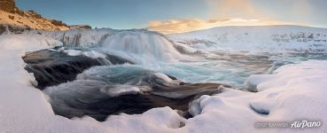 Gullfoss waterfall at winter, Iceland