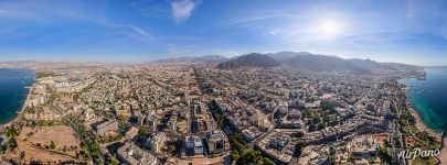 Panorama of Aqaba from above