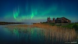 Northern lights above Kizhi