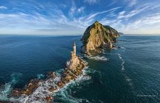 Lighthouse at Cape Aniva, Sakhalin, Russia