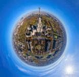 Moscow State University in the autumn. Planet