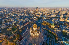 Above the Cathedral of Christ the Saviour