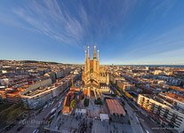 Barcelona, Spain. West side of Sargrada Familia