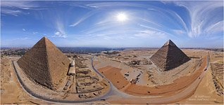 Egypt. Great Pyramids. Equidistant projection