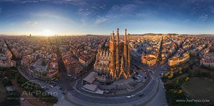 Barcelona, Spain. East side of Sargrada Familia