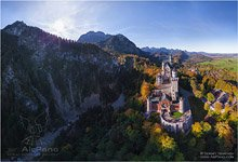 Germany, Neuschwanstein Castle and surroundings