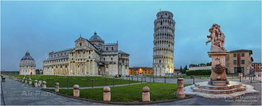 Italy, square of Miracles (Piazza dei Miracoli) at night