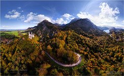 Germany, the road to the Neuschwanstein Castle
