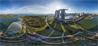 Marina Bay Sands hotel - panorama, Singapore