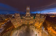 Cibeles Palace, or the Palace of Communication at night