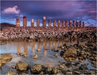 Moai Statues, Reflection
