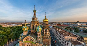 Church of the Savior on Blood at sunset