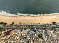 Over beach Copacabana