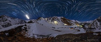 Starry sky over mount Elbrus #2