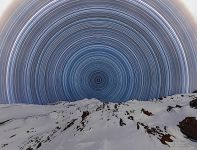 Starry sky over mount Elbrus #11