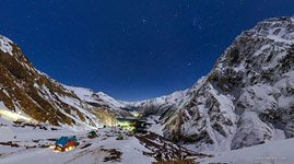 Starry sky over mount Elbrus #5