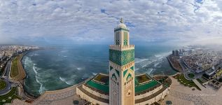 Hassan II Mosque. Panorama