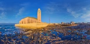 On the coast near the Hassan II Mosque