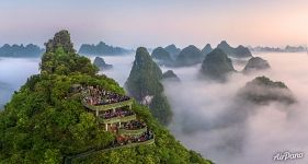 Observation deck in Guilin