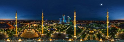 Akhmad Kadyrov Mosque at night #2