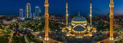 Akhmad Kadyrov Mosque at night #1