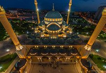 Akhmad Kadyrov Mosque at night #7