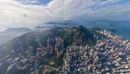 Hong Kong from an altitude of 700 meters