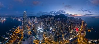 Panorama of Hong Kong at night