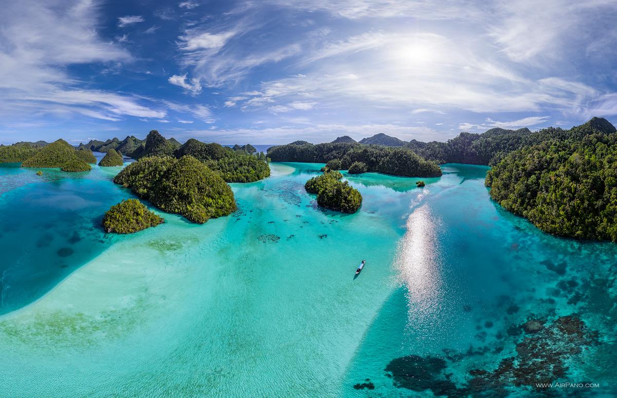 Wayag islands, Raja Ampat, Indonesia, aerial photo #13